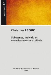 Substance, individu et connaissance chez Leibniz