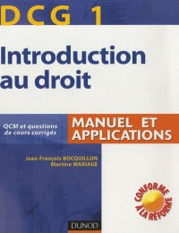 Introduction au droit DCG 1 : Manuel et applications
