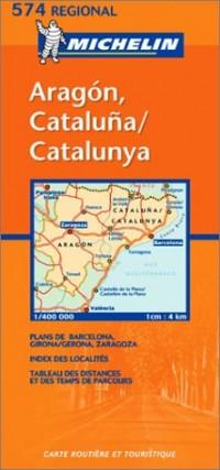 Carte routière : Aragon, Cataluna, N° 11574 (en espagnol)