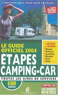 Guide officiel étapes camping car 2004