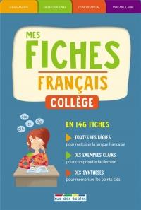 Coffret Mes fiches français collège