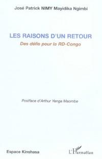 Raisons d'un Retour des Défis pour la Rd-Congo