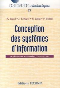 Conception des sytèmes d'information : Modélisation des données, études de cas