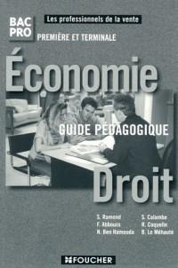 Economie-Droit 1e et Tle Bac pro commerce : Guide pédagogique