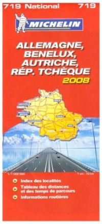 Allemagne, Benelux, Autriche, République Tchèque : 1/1 000 000