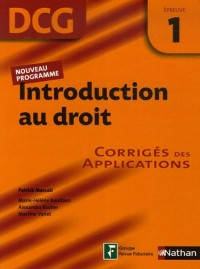Introduction au droit Epreuve 1 - Corrigés des applications