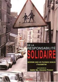 De la responsabilité solidaire