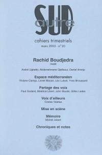 Autre sud, numéro 20 : Rachid Boudjedra