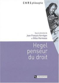 Hegel, penseur du droit