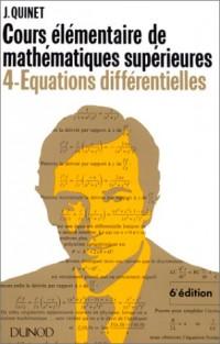 Mathématiques supérieures, cours élémentaire 4 : équations différentielles