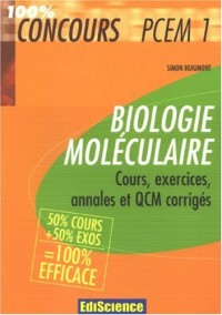 Biologie moléculaire PCEM1 : Cours, exercices, annales et QCM corrigés