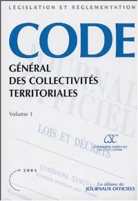 Code général des collectivités territoriales 2 volumes