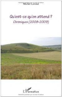 Qu'est-ce qu'on attend ? : Chroniques (2008-2009)
