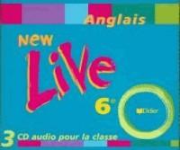 New Live : 6ème, LV1, pour la classe (coffret 3 CD)