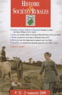 Histoire et sociétés rurales 32