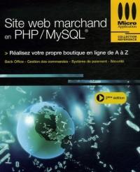Site web et marchand en PHP/MySQL
