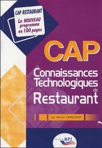 CAP Connaissances Technologiques de Restaurant