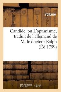 Candide  Ou l Optimisme  ed 1759