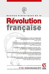 Annales historiques de la Révolution française nº 386 (4/2016) Varia
