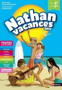 Nathan Vacances 2017 - 3ème/2nde - Cahier de vacances