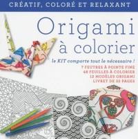 Origamis à colorier