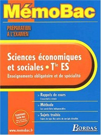 MEMO PREPA.EXAM. ECONOMIE TERM. ES    (Ancienne Edition)