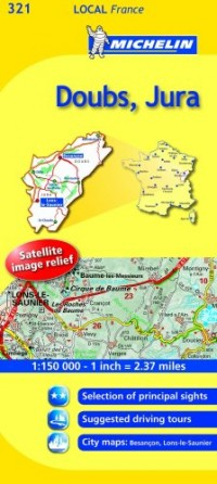 Michelin Map France: Doubs, Jura 321