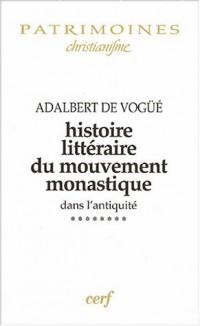 Histoire littéraire du mouvement monastique dans l'antiquité, tome 8 : De la vie des Pères du Jura aux oeuvres de Césaire d'Arles, 500-542