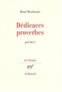 Dédicaces et proverbes