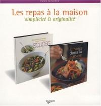 Les repas à la maison : Coffret 2 volumes : Soupes ; Dînons dans la cuisine