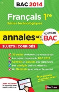Annales Bac 2014 Français Première Stmg Sti Stl St2s Cor N21