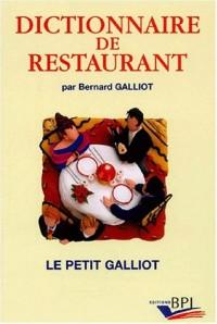 Dictionnaire de restaurants
