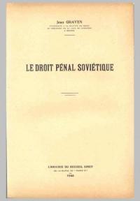 Le droit pénal soviétique