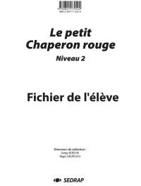 Fichier No 2 le Petit Chaperon Rouge