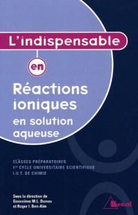 L'indispensable en réactions ioniques en solution aqueuse