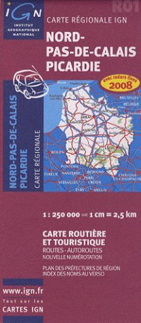 Nord-Pas-de-Calais Picardie : 1/250 000