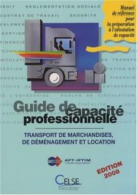 Guide de capacité professionnelle 2008