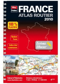 2010 mini atlas routier plastifi France