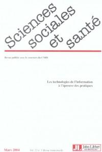 Revue Sciences Sociales et Santé : Numéro 1 - Volume 22 - Mars 2004