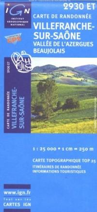 Villefranche-sur-saône : Vallée de l'Azergues, Beaujolais, 1/25 000