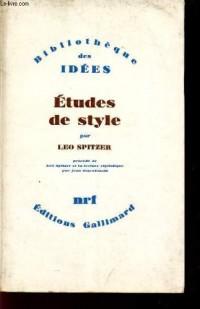 Etudes de style : Léo Spitzer et la lecture stylistique