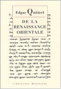 De la renaissance orientale