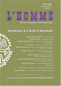L'Homme, numéro 167-168 : Passages à l'âge d'homme