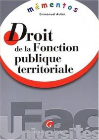 Mémento : Droit de la fonction publique territoriale