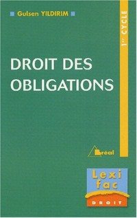 Droit des obligations 1er cycle