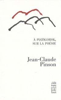 A Piatigorsk, sur la poésie