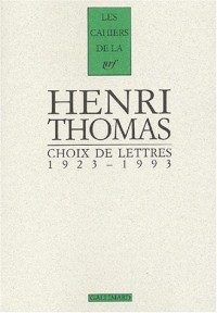 Choix de lettres : 1923-1993