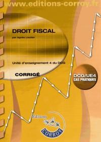 Droit Fiscal Corrige - Ue 4 du Dcg