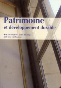 Patrimoine et Developpement Durable