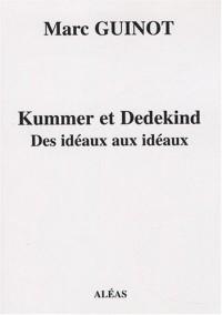 Kummer et Dedekind : Des idéaux aux idéaux